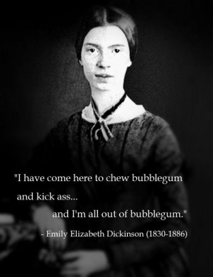 Emily Elizabeth Dickinson (1830-1886)[ who | huh ]