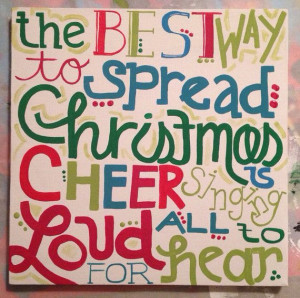 The Best way to spread Christmas Cheer... Elf quote Painting on Etsy ...