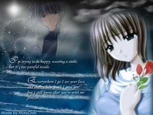 Sad anime quotes.