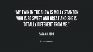Twin Quotes Quote-sara-gilbert-my-twin