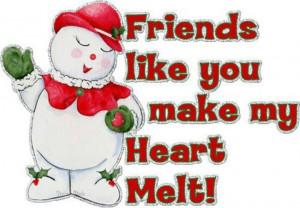 Friends like you make my heart melt! !!