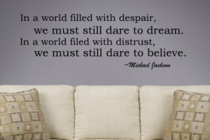 Michael Jackson Inspirational Removable Vinyl Word Wall Sticker ...