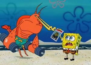 LOL funny cartoon spongebob tattletale strangler larry the lobster