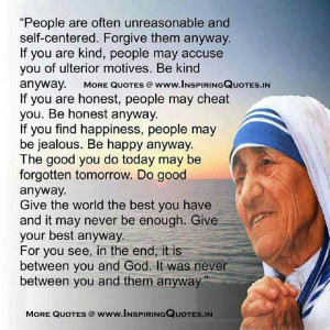 Mother Teresa Quotes Mother Teresa Messages, Great Words, Lines Images ...
