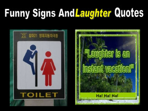 Funny Signs And Laughter Quotes