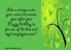 Employess Sweet Birthday Quotes