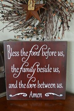 Bless The Food Before Us The Family Beside Us by CreativeTouchWood, $ ...