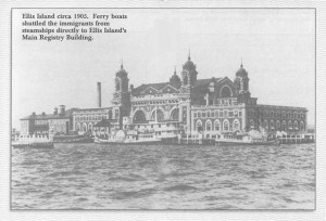 Ellis Island circa 1905. Ferry boats shuttled the immigrants from ...