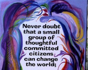 NEVER Doubt MARGARET MEAD 5x7 Inspirational Poster Motivational Saying