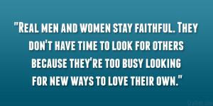 Real Man Stay Faithful