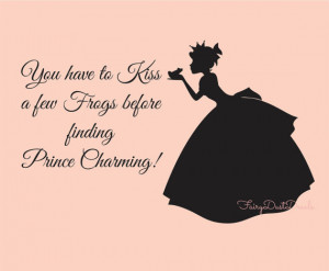 ... few frogs before finding Prince Charming wall decal with lettering