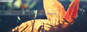 Autumn Quote Facebook Cover