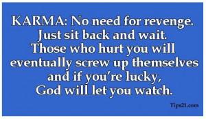 Karma_no need for revenge et al