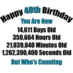 Quotes 40 Years Old ~ 40 Year Old Birthday Quotes For Men