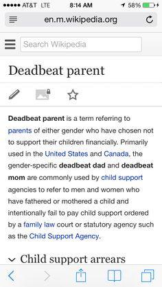 Deadbeat Dad Definition