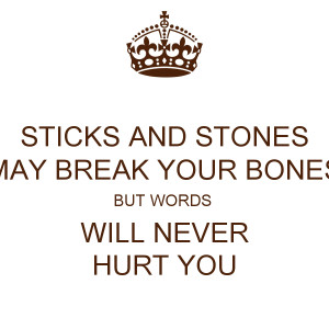 Electrohouse Sticks And Stones May Break Bones But Words