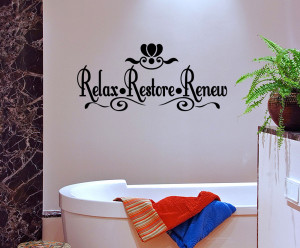 ... Restore-Renew-Vinyl-Wall-quote-Mural-Decal-Bathroom-Wall-Decor-Sticker