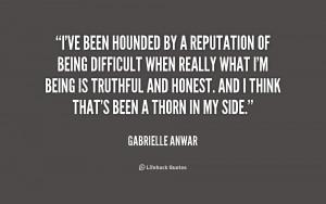 Gabrielle Anwar Quotes