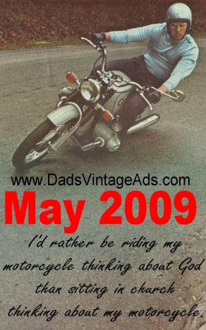 Cool Motorcycle gifts and stuff available at www.DadsVintageAds.com