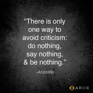 Criticism #quote #Aristotle #Wiseman