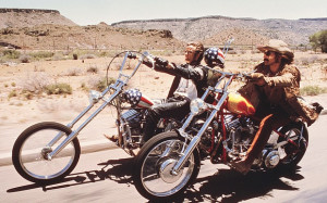 The Harley-Davidson ridden by Peter Fonda (left) in Easy Rider has ...
