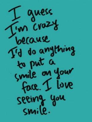Crazy for smiles