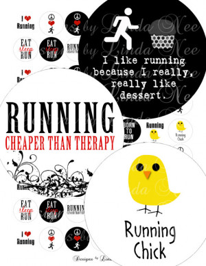 Instant Download - Running Quotes (1 inch rounds) Images SALE ...