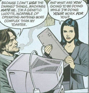 Fables panel : machine quote