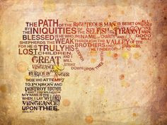 The path of the righteous man...