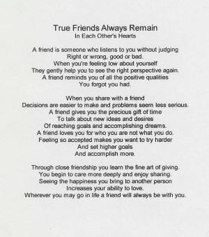True Friends Always [Poem]