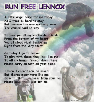 Rest In Peace, Lennox.