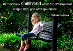 Childhood Quote: Memories of childhood were the dreams that ...