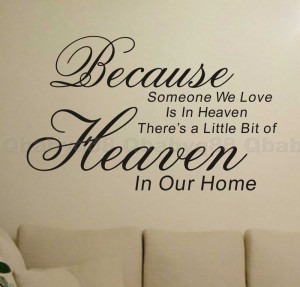 ... heaven Wall quotes decals Removable stickers decor DIY home family art
