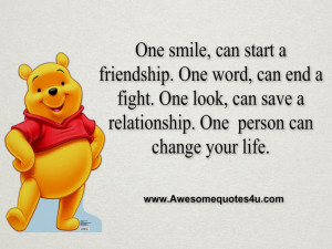 Quotes About A Person Changing Your Life ~ Awesome Quotes: One smile ...