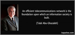 An efficient telecommunications network is the foundation upon which ...