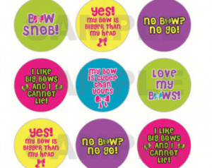 INSTANT DOWNLOAD - Cute Bow Sayings Bottle Cap Images - 4x6 Digital ...