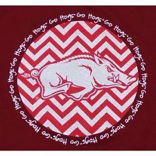 Arkansas Razorbacks T-Shirt - Chevron Pattern With Logo Tee - Go Hogs