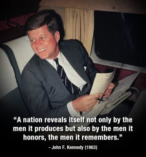 ... ABC7 remembers JFK with some of his inspirational quotes. (AP Photo