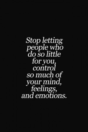Wasting time let go of their sorry ass and move on: Control, Remember ...