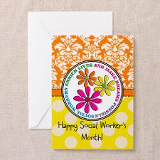 Happy Social worker month 3 Greeting Cards for