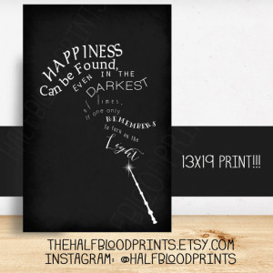 Harry Potter Wall Art - Minimalist -quote -dumbledore - happiness can ...