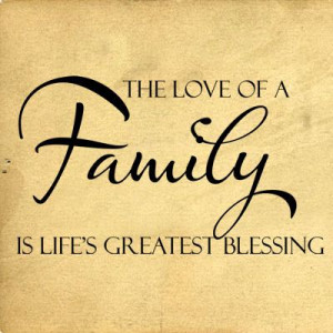 Love Of A Family Lifes Greatest Blessing Wall Decals - Trading Phrases