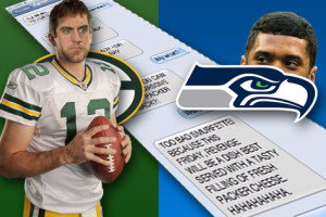 INTERCEPTED TEXT: Aaron Rodgers and Russell Wilson