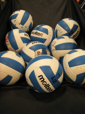 Writing quotes on your team balls...we love this idea! Thanks to Ace ...