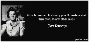 ... lost every year through neglect than through any other cause. - Rose