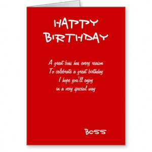 Happy birthday boss greeting cards