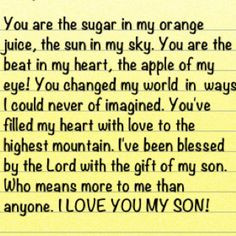 Son Poem Personalized Gift...