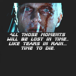 Retro Classic Movie Blade Runner Roy Batty Quote T Shirt