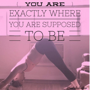 Fitness. Yoga. Motivational quote