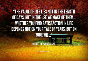 Quotes On Value of Life